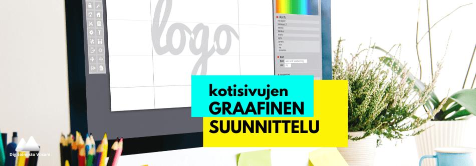 Logosuunnittelu, brändivärien valinta ja valokuvat luovat kotisivujen ilmeen
