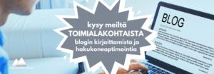Digitoimisto Viisam kirjoittaa toimialakohtaisia hakukoneoptimoituja blogi-artikkeleja